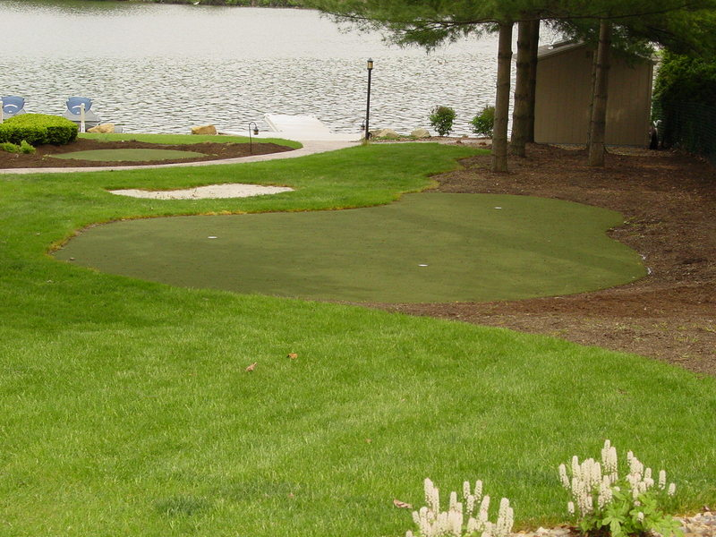 private golf green installation lucas landscaping