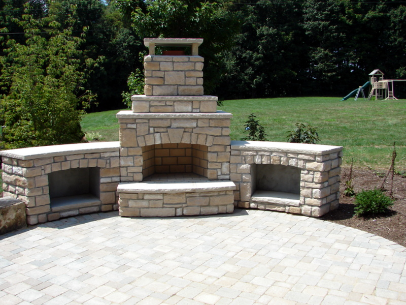 outdoor brick fire oven install lucas landscaping