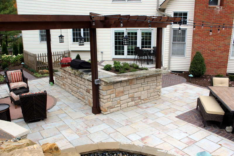 outdoor kitchen pergola shade structures