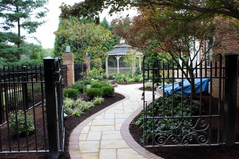 aluminum fence landscaping master plan gazebo