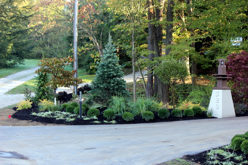 landscape design home entrance norton ohio