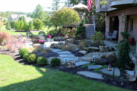 stone pathway install