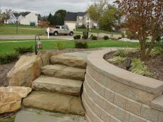 stone staircase retaining wall