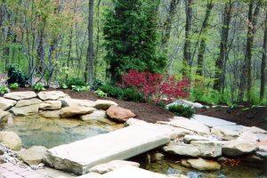 backyard garden pond installation lucas landscaping